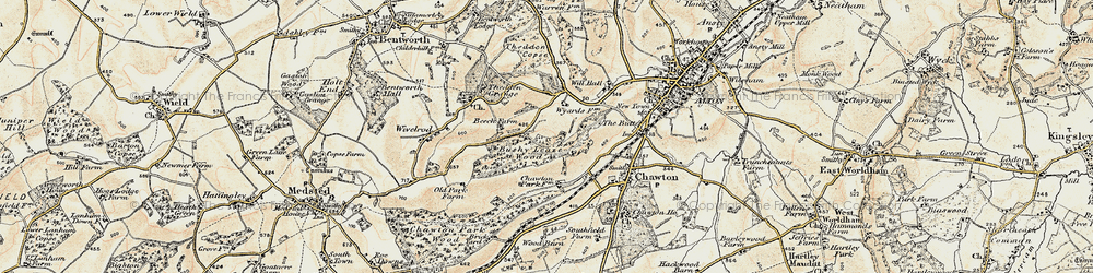 Old map of Ackender Wood in 1897-1900