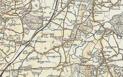 Old map of Beech Hill in 1897-1900