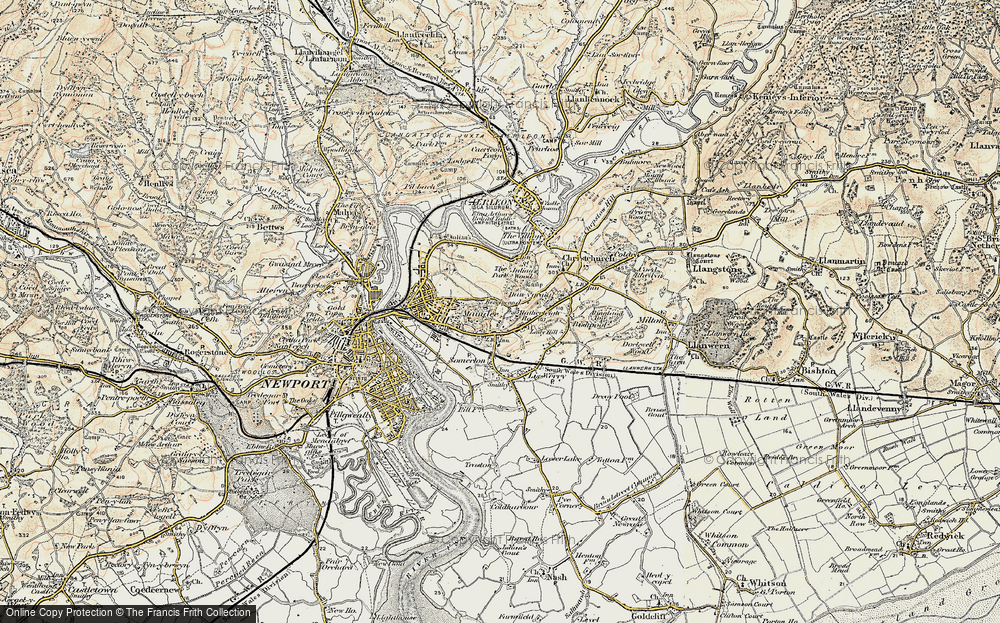 Old Map of Beechwood, 1899-1900 in 1899-1900