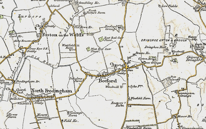 Old map of Beeford in 1903-1904