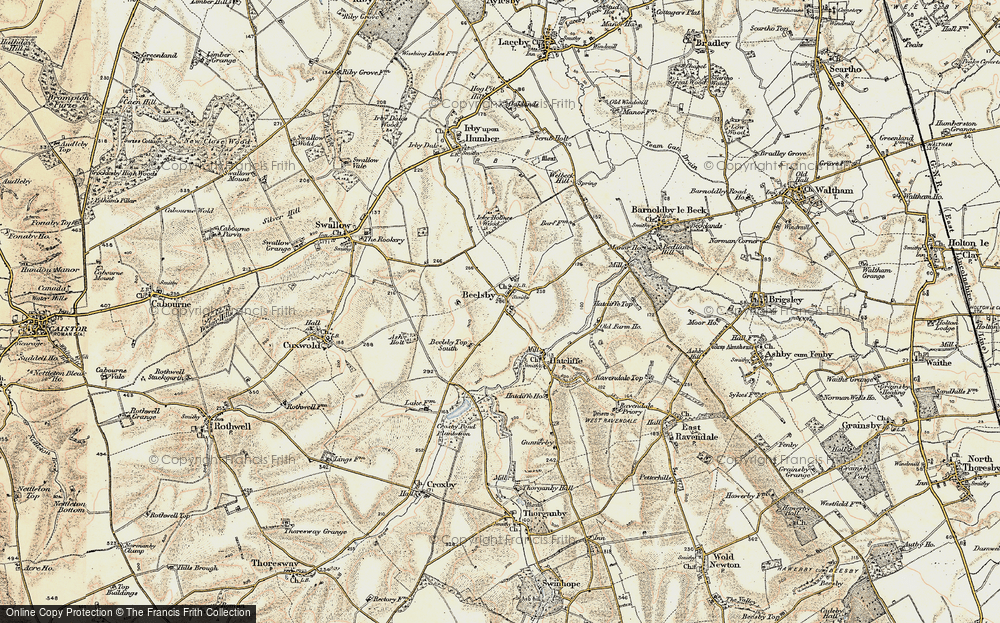 Old Map of Beelsby, 1903-1908 in 1903-1908