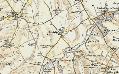 Old map of Beelsby in 1903-1908