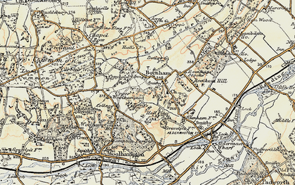 Old map of Beenham in 1897-1900