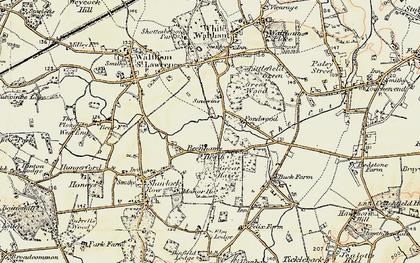 Old map of Beenham's Heath in 1897-1909