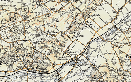 Old map of Beenham Stocks in 1897-1900