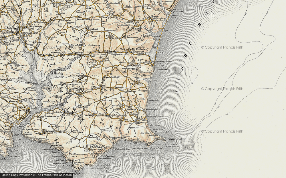 Old Map of Beesands, 1899 in 1899