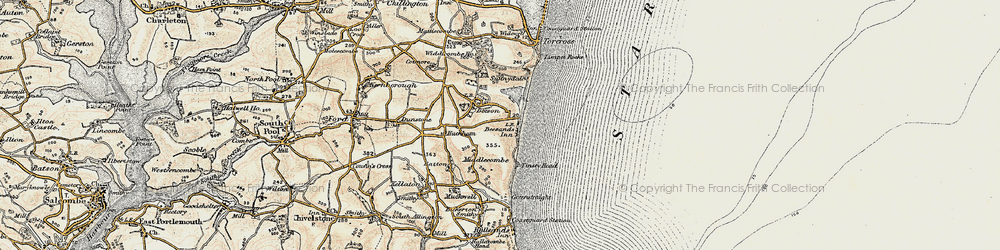 Old map of Beesands in 1899