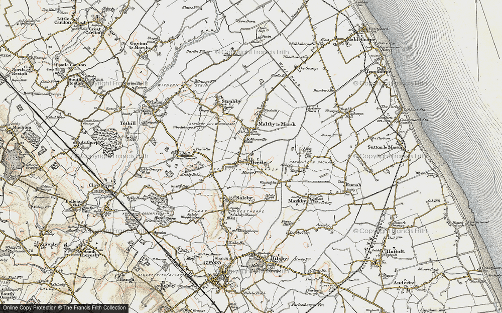 Old Map of Beesby, 1902-1903 in 1902-1903
