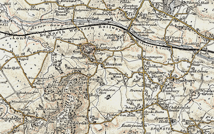 Old map of Beeston in 1902-1903