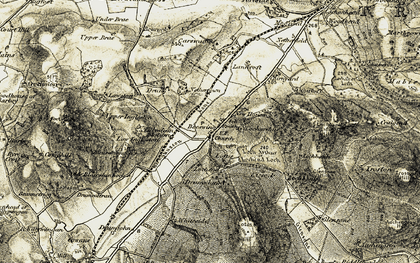 Old map of Beeswing in 1904-1905