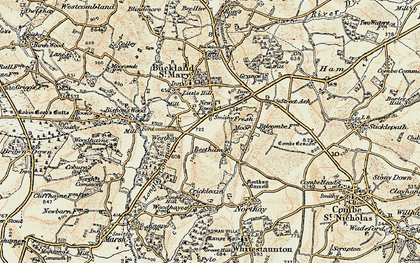 Old map of Beetham in 1898-1900