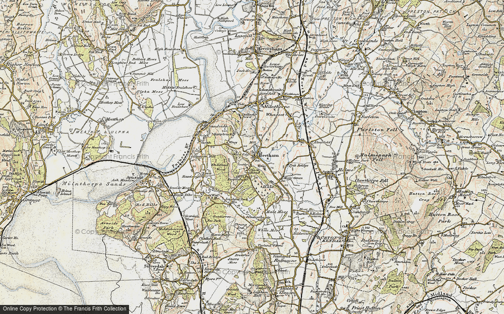 Old Map of Beetham, 1903-1904 in 1903-1904