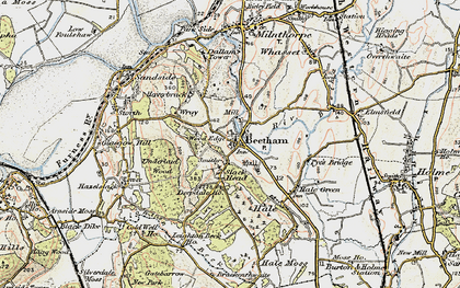 Old map of Beetham in 1903-1904
