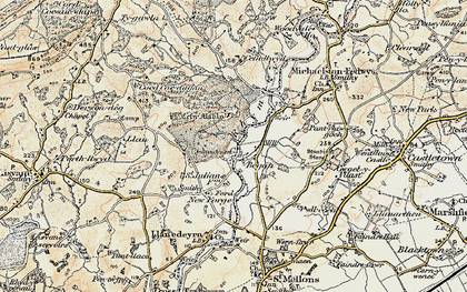 Old map of Began in 1899-1900