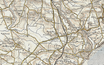 Old map of Begelly in 1901