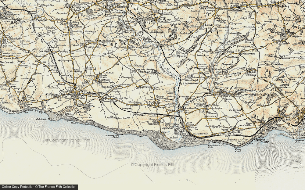 Old Map of Beggars Pound, 1899-1900 in 1899-1900