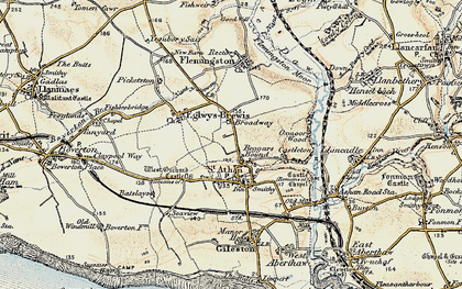 Old map of Beggars Pound in 1899-1900