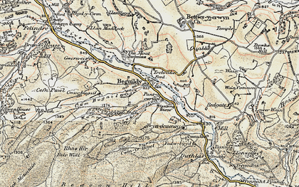 Old map of Beguildy in 1901-1903