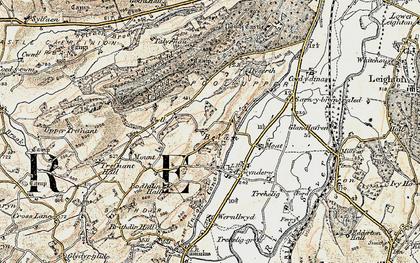 Old map of Belan in 1902-1903