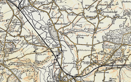 Old map of Abbotswood in 1897-1909