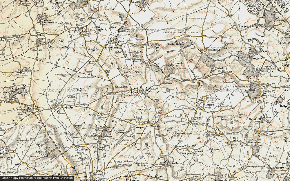 Old Map of Belchford, 1902-1903 in 1902-1903