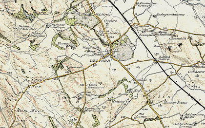 Old map of Whitelee in 1901-1903