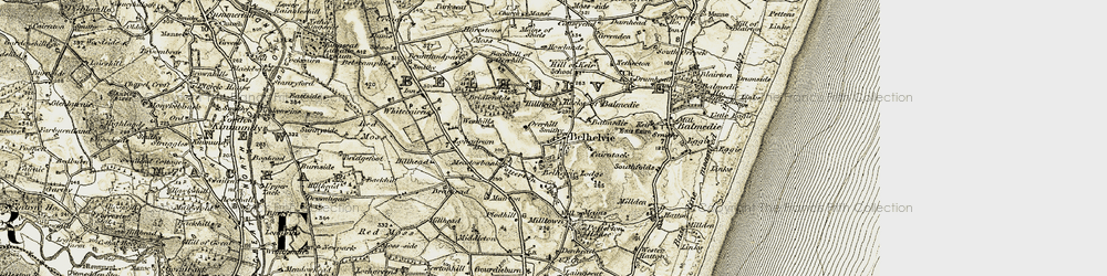 Old map of Westburn in 1909-1910