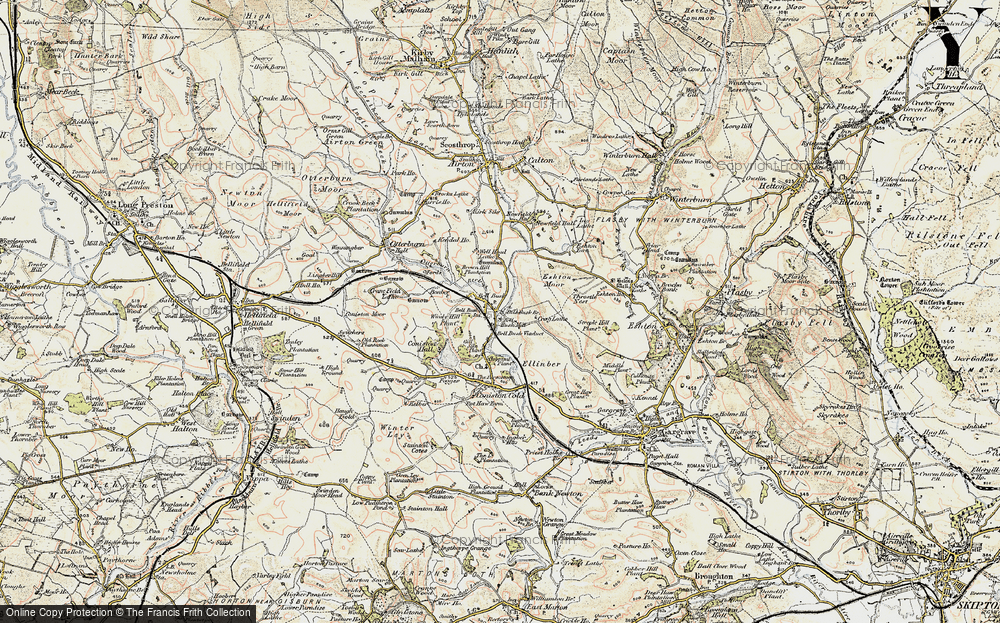 Old Map of Bell Busk, 1903-1904 in 1903-1904