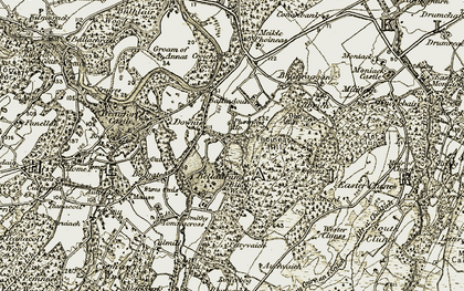 Old map of Auchvaich in 1908-1912
