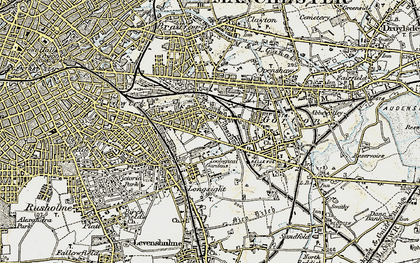 Old map of Belle Vue in 1903