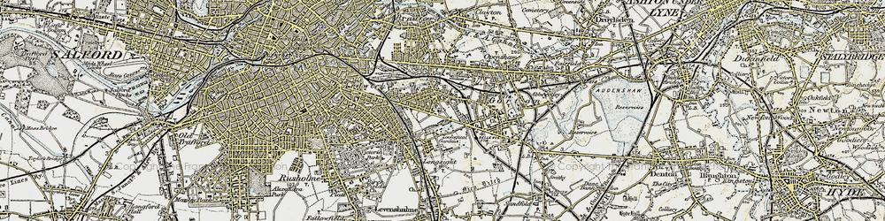 Old map of Belle Vue in 1903