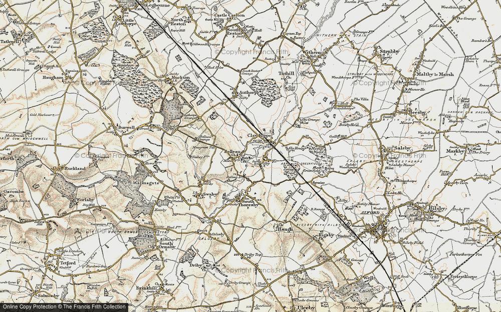 Old Map of Belleau, 1902-1903 in 1902-1903