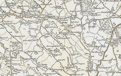 Old map of Bellingdon in 1897-1898