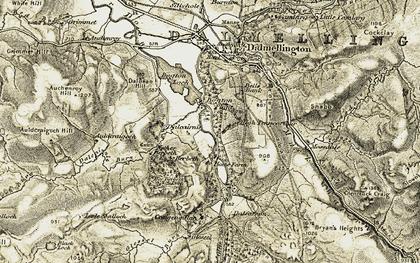 Old map of Auldcraigoch Hill in 1904-1905