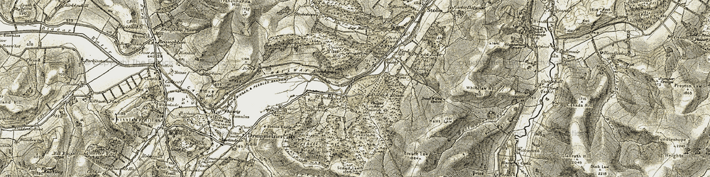 Old map of Westhill Wood in 1903-1904