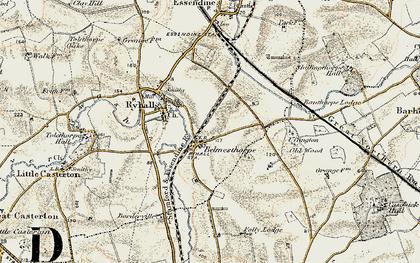 Old map of Belmesthorpe in 1901-1903