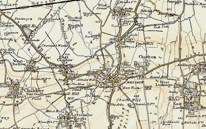 Old map of Woodhill Brook in 1897-1899