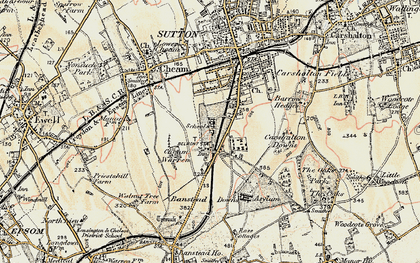 Old map of Belmont in 1897-1909