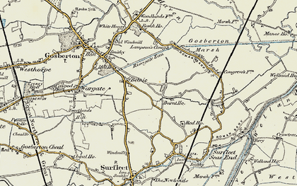 Old map of Belnie in 1902-1903