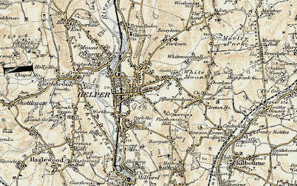 Old map of Belper in 1902