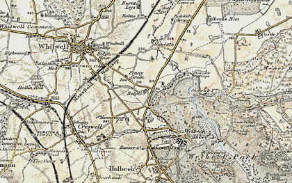 Old map of Belph in 1902-1903