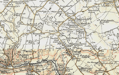 Old map of Belsize in 1897-1898
