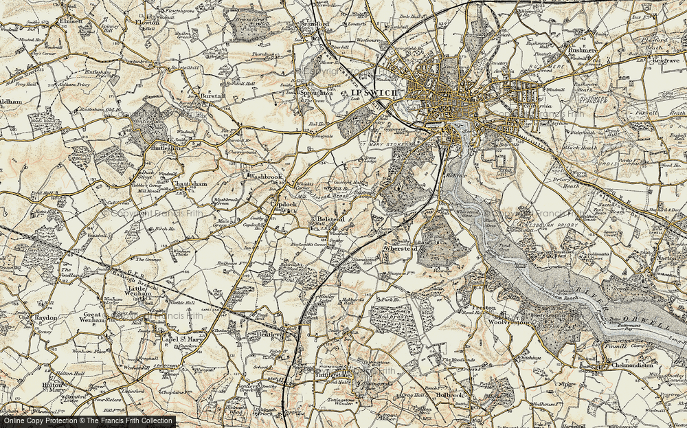 Old Map of Belstead, 1898-1901 in 1898-1901