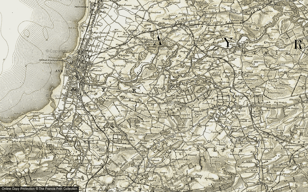 Old Map of Historic Map covering Barclaugh in 1904-1906