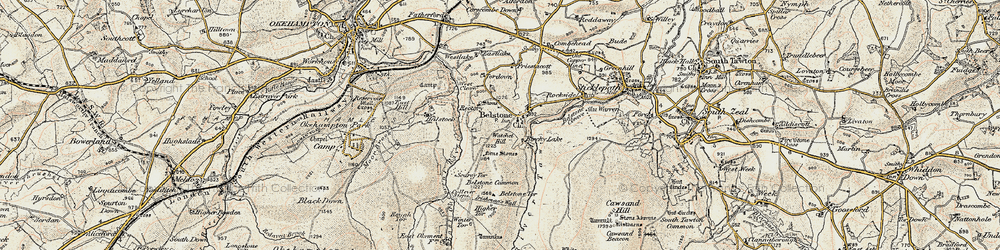 Old map of Westlake in 1899-1900