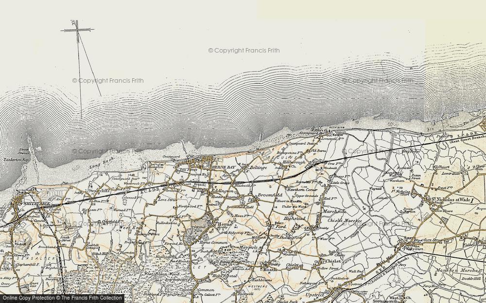 Old Map of Beltinge, 1898-1899 in 1898-1899