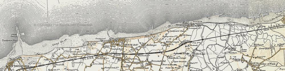 Old map of Beltinge in 1898-1899