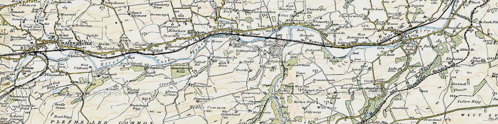 Old map of Wool Ho in 1901-1904