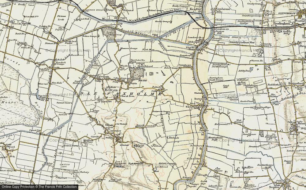 Old Map of Beltoft, 1903 in 1903