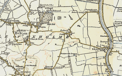 Old map of Beltoft in 1903